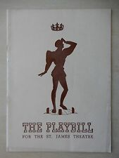 April 8th, 1940 - St. James Theatre Playbill - King Richard II - Maurice Evans