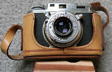 1949 Bolsey Model B2 Wollensak Synchro-Matic Camera w/ Case 35 MM - Antique