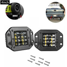 2PCS 4inch Flush Mount LED Car Bumper Reverse Lamps Driving lights Work Lights