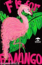 Pittsburgh Pennsylvania Zoo F Flamingo United States Advertisement Art Poster