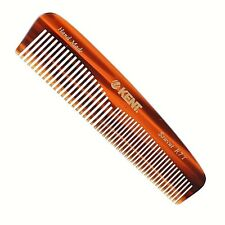 UNISEX 130MM COARSE & FINE TOOTHED POCKET HAIR COMB KENT BRUSHES HANDMADE
