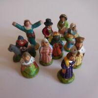 10 figurines miniature santon personnage crèche céramique terre cuite N5118