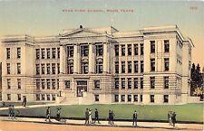 c.1910 Waco High School Waco TX post card