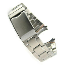 Oyster Curved End 18mm 20mm 22mm Stainless Steel Satin Replacement Watch Strap