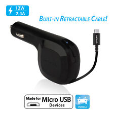 Naztech Reactor II Micro USB Vehicle Charger - Black