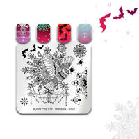 BORN PRETTY Nail Stamping Plates Square Floral Eagle Crown Nail Art Templates