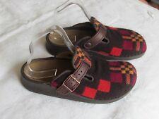 RARE NEW Birkenstock Ladies Brown & Orange Clogs Sandals Slippers Size 5 EU 38