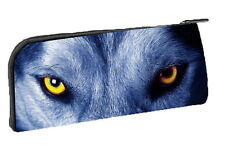 Pencil / Biro Case Free Standing - Blue Wolf : Also many other Designs available
