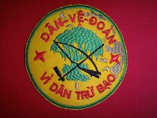 "South Viet SELF-DEFENSE FORCE ""DAN VE DOAN - VI DAN TRU BAO"",  Vietnam War Patch"