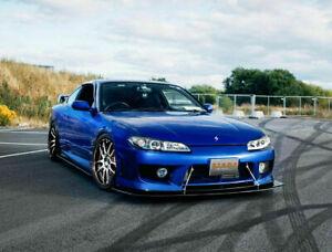 Splitter / Front Bumper Lip for Nissan S15 200SX Track Drift Time Attack v8