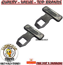 2pk Universal Car Safety Seat Belt Buckle Alarm Eliminator Clip Stop Warning Hot