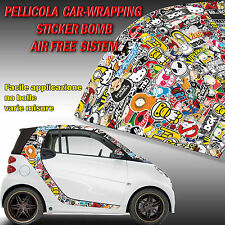 PELLICOLA WRAPPING STICKER BOMB ADESIVO STICKERBOMB TERMOFORMABILE CARTOON