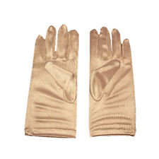 White satin wedding formal  gloves  short  size 14-16