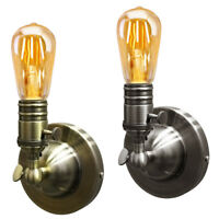 Retro Vintage Wall Light Holder Sconce Lamp Bulb Socket E27 Fixture with Switch
