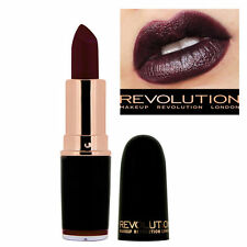 Dark Plum Purple Lipstick Makeup Revolution Iconic Pro Blindfolded