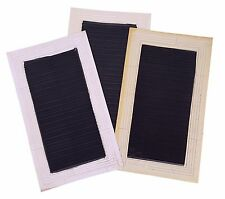 ACCLAIM 3 x Heavy Duty Bowls Delivery Mat Non Ribbed Black White Marks Rejects A