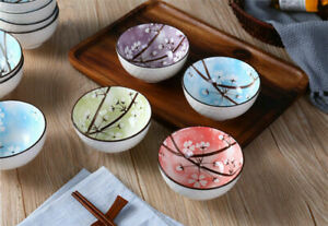 Brand New Set of 4 Noodle Rice Bowls Microwave dishwasher Safe Japanese style