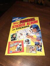 1981 Topps Sticker Album Store Window Poster Football