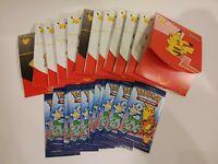 12 Empty Pokémon McDonald's 25th Anniversary Sets (No Cards) - Free Shipping!