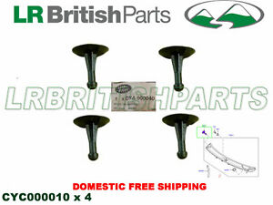 GENUINE LAND ROVER COWL PANEL CLIPS RANGE ROVER 03 - 12 NEW SET OF 4 CYC000010