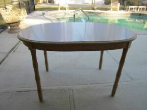 Hollywood Regency Dining Table Ivory Color