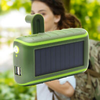 Multifunctional Solar Energy Power Bank 8000MAh Hand Crank Dynamo Powered S2V7