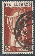 1930 REGNO USATO POSTA AEREA FERRUCCI 1 LIRA - R8-9