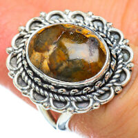 Petrified Wood 925 Sterling Silver Ring Size 6.25 Ana Co Jewelry R49202F