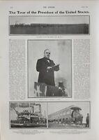 1901 Estampado Presidentes Mckinley Estados Unidos Mississipp Steamboat