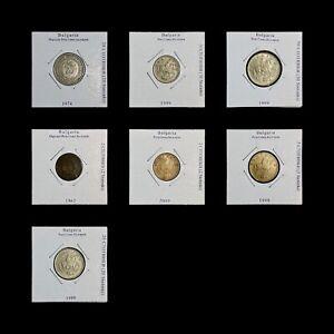 BULGARIA. Job Lot, 1962-1999, Bulgarian Coins x 7