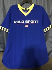 Polo Sport Mesh V Neck Jersey Mens Large NWT MSRP $98