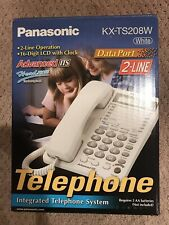 Panasonic KX-TS208W Telephone NEW White 2 Line