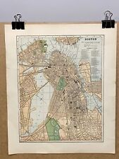 Boston Massachusetts The Historical Atlas Vintage Old Map Charles River Downtown