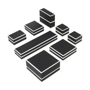 Black and White Ring Pendant Earring Universal Jewellery Box for Birthday, Gift