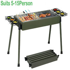 Large Barbecue Charcoal Grill Height Adjustable Stove Bbq Cooker Smoker Outdoors