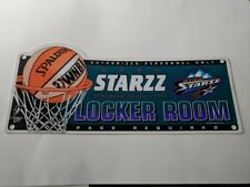 VINTAGE WINCRAFT 1997 WNBA UTAH STARZZ INAUGURAL SEASON LOCKER ROOM SIGN