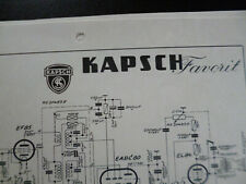 Original Schaltplan Kapsch Favorit