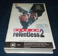RELENTLESS 2 DEAD ON VHS PAL MICHAEL SCHRODER