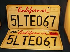 Pair of California State License Plates (Retired in 2006)