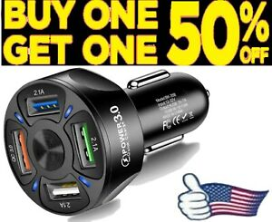 2 3 4 USB Port Fast Charging Adapter for Samsung iPhone Android Cell Phone LG
