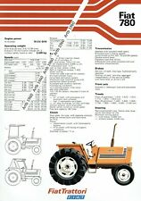 Fiat 780 tractor 2 sided A4 leaflet /Brochure 1978?