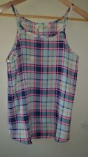 Ladies Mika & Gala Pink / Navy Plaid singlet Top Size 6 NWT