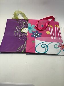 Lot Of 2 Birthday Gift Bags