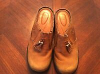 Ariat Western Style Mendocino Tassel Clog Mule Leather Shoes Ladies 6B