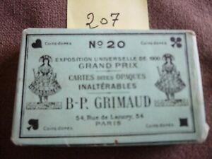 Ancien jeu de cartes : Jeu B. P. GRIMAUD N° 20