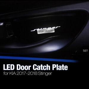 Interior LED Inner Door Catch Handle Plate Panel Set For KIA 2017-18 Stinger