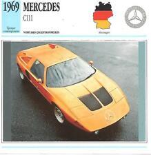 MERCEDES C 111 & 1969 & Fiche Automobile