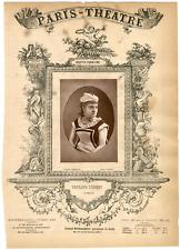 Lemercier, Paris-Théâtre, Pauline Luigini, chanteuse Vintage Albumen Print Tir