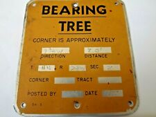 Vintage Original U.S. Forest Service Used Bearing Tree Forestry Plate Tag Sign
