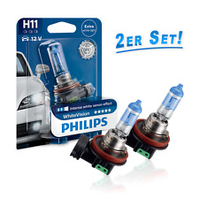 Philips H11 Halogen Lampe White Vision Xenon Effect 3600K 2erSet